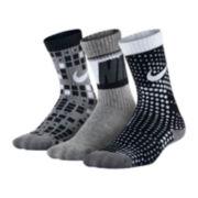Nike® 3-pk. Camo Crew Socks - Boys