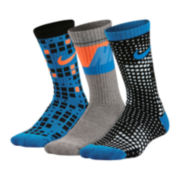 Nike® 3-pk. Graphic Crew Sock - Boys