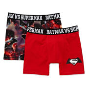 Dawn of Justice 2-pk. Boxer Briefs - Boys 4-10