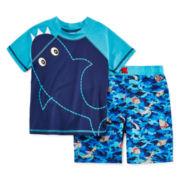 Baby Buns Rash Guard and Swim Trunks Set - Toddler Boys 2t-4t