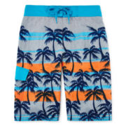 Arizona Striped Palms Swim Trunks - Boys 8-20