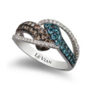 CLOSEOUT! Le Vian Grand Sample Sale Exotics Color-Enhanced Blue and Chocolate Diamond® Ring