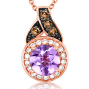 CLOSEOUT! Le Vian Grand Sample Sale Amethyst and Diamond Pendant Necklace
