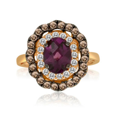 jcpenney.com | LIMITED QUANTITIES  Le Vian Grand Sample Sale Rhodolite, White Sapphire and Brown Quartz Ring