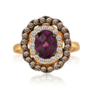 CLOSEOUT! Le Vian Grand Sample Sale Rhodolite, White Sapphire and Brown Quartz Ring