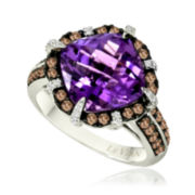 Le Vian Grand Sample Sale Amethyst, White and Chocolate Diamond Ring