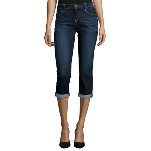 Arizona Roll-Cuff Denim Cropped Jeans