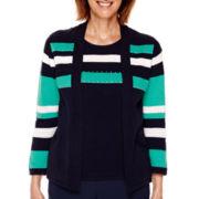 Alfred Dunner® Costa Allegra 3/4-Sleeve Layered Sweater - Petite