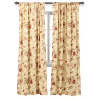 jcpenney.com | Greenland Home Fashions Antique Rose 2-Pack Rod-Pocket Lined Curtain Panels