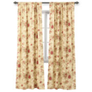 Greenland Home Fashions Antique Rose 2-Pack Rod-Pocket Lined Curtain Panels