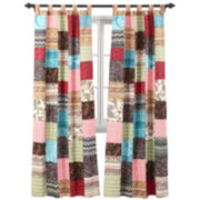 Greenland Home Fashions New Bohemian 2-Pack  Tab-Top Curtain Panels