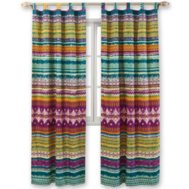jcpenney.com | Greenland Home Fashions Southwest 2-Pack Tab-Top Curtain Panels