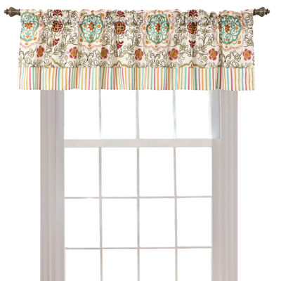 Greenland Home Fashions Esprit Spice Rod-Pocket Valance