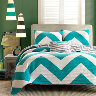 jcpenney.com | Mi Zone Aries Chevron Reversible Quilt Set