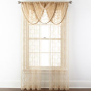Royal Velvet® Geneva Rod-Pocket Embroidered Sheer Window Treatments