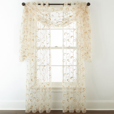 jcpenney.com | Royal Velvet® Plaza Embroidery Sheer Window Treatments