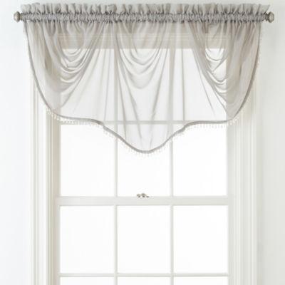 Liz Claiborne® Lisette Sheer Imperial Beaded Valance