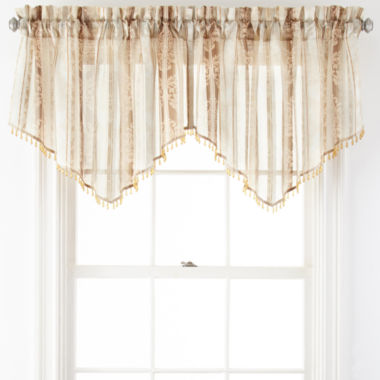 jcpenney.com | Home Expressions™ Regan Rod-Pocket Sheer Ascot Valance