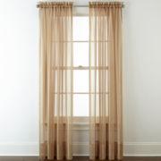Liz Claiborne® Lisette Stripe Sheer Rod-Pocket Window Treatments