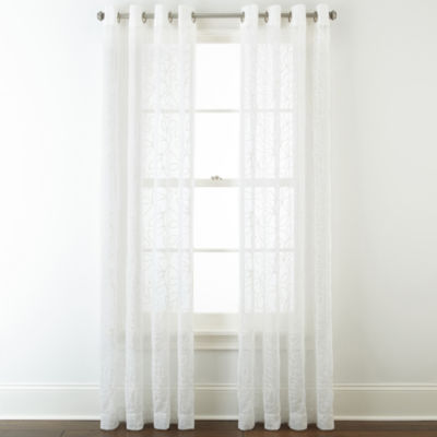 JCPenneyHomeTM Serene Sheer Grommet Top Curtain Panel