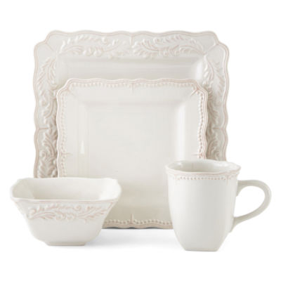 Square Dinnerware Set  sc 1 st  JCPenney & JCPenney Home™ Amberly 16-pc. Square Dinnerware Set - JCPenney