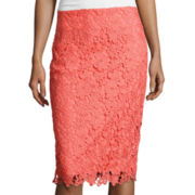 Liz Claiborne® Lace Pencil Skirt
