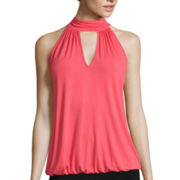 Bisou Bisou® Sleeveless Tie-Back Halter Top