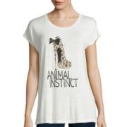 i jeans by Buffalo Short-Sleeve Embellished T-Shirt