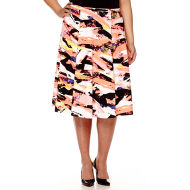 jcpenney.com | BELLE + SKY™ Print Skirt - Plus