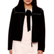 BELLE + SKY™ Long-Sleeve Faux-Suede Jacket - Plus