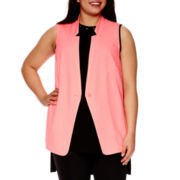 BELLE + SKY™ Sleeveless Sheer-Back Vest - Plus
