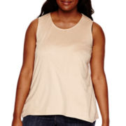 Worthington® Faux-Suede Tank Top - Plus