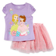 Disney Collection Sofia Tee and Skirt Set - Girls 2-8