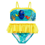 Disney Collection 2-pc. Dory Swim Set - Girls 2-10