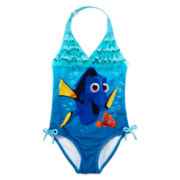 Disney Collection Dory Halter Swimsuit - Girls 2-10