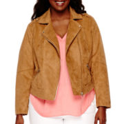 a.n.a® Long-Sleeve Faux-Suede Jacket - Plus