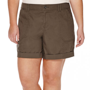 jcpenney.com | a.n.a® Roll-Cuff Cargo Shorts - Plus