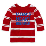 Okie Dokie® Long-Sleeve Striped Tee - Baby Boys newborn-24m