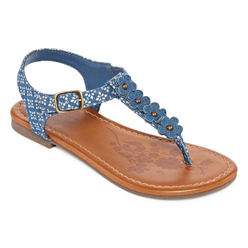 Arizona Tris Girls Flat Sandals - Little Kids