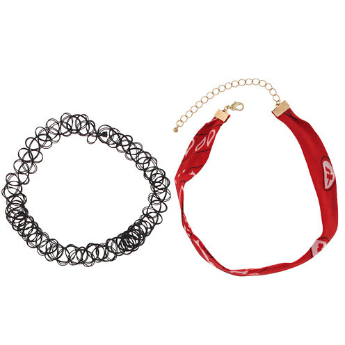 City Streets Womens Choker Necklace