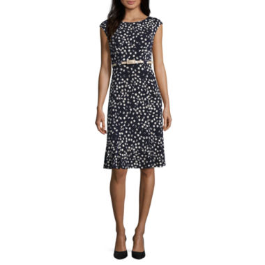 jcpenney.com | Connected Apparel Cap Sleeve Fit & Flare Dress