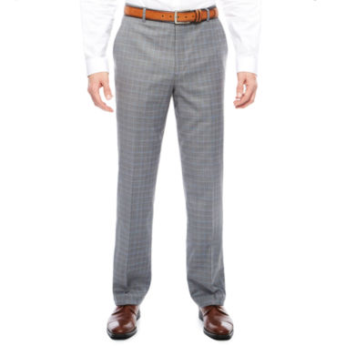 jcpenney.com | STF Travel Stretch Grey Blue Plaid FF Pant Cls