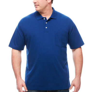 jcpenney.com | The Foundry Big & Tall Supply Co. Short Sleeve Solid Jersey Pocket Polo