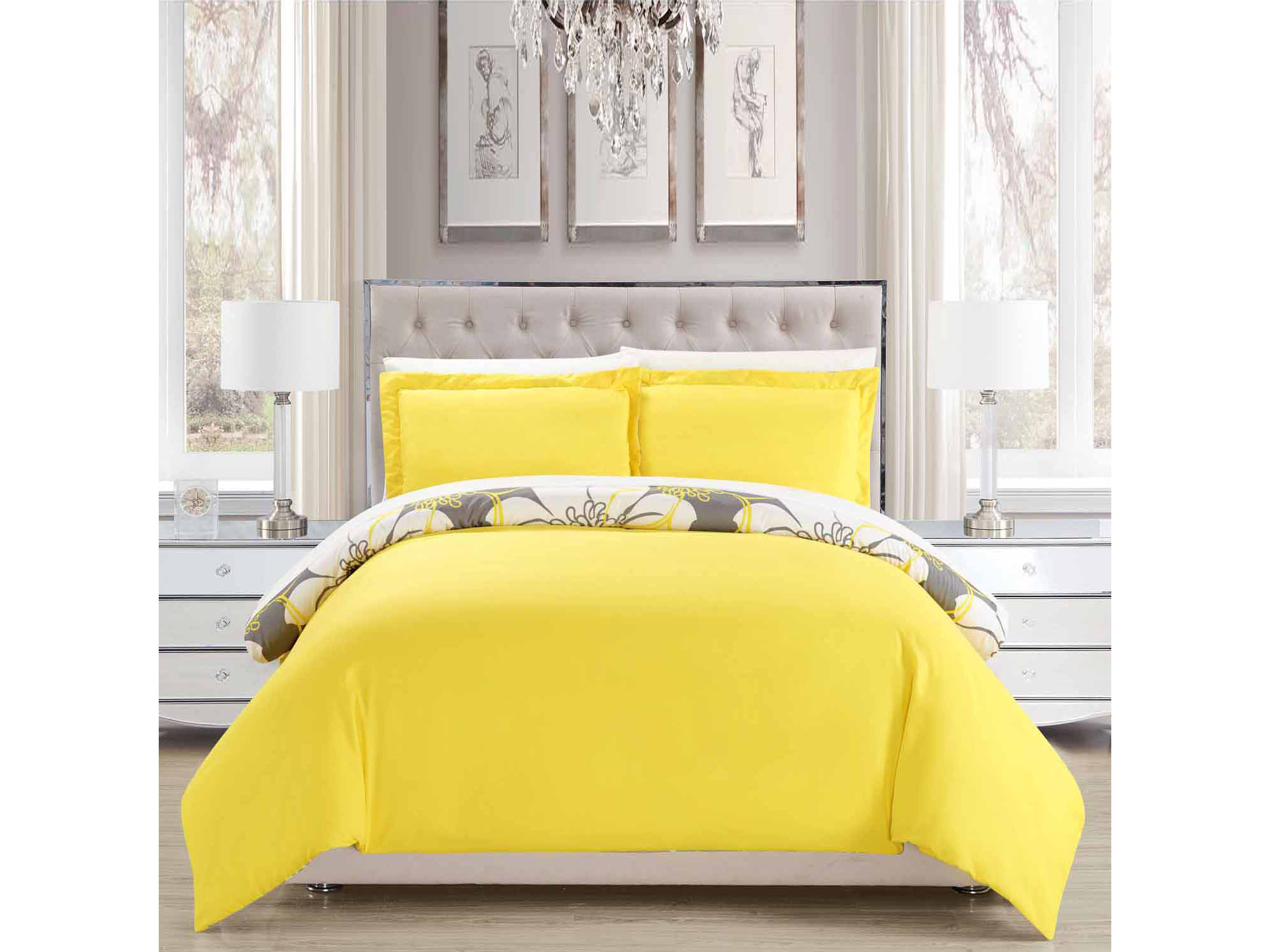 Chic Home Morning Glory 7 - pc. Complete Bedding Set with Sheets