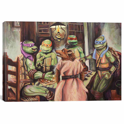 Icanvas The Pizza Eaters Canvas Art