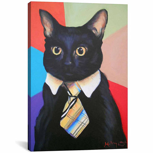 Icanvas Business Cat Canvas Art