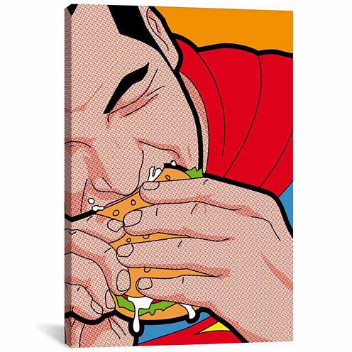 Icanvas Super-Burger Canvas Art