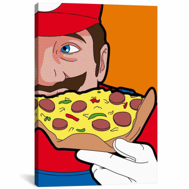 jcpenney.com | Icanvas Mario-Pizza Canvas Art