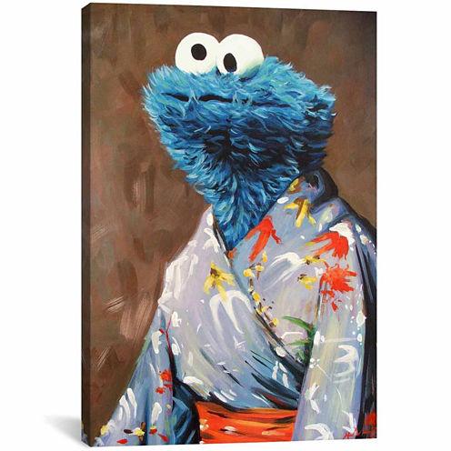 Icanvas Kimono Monster Canvas Art
