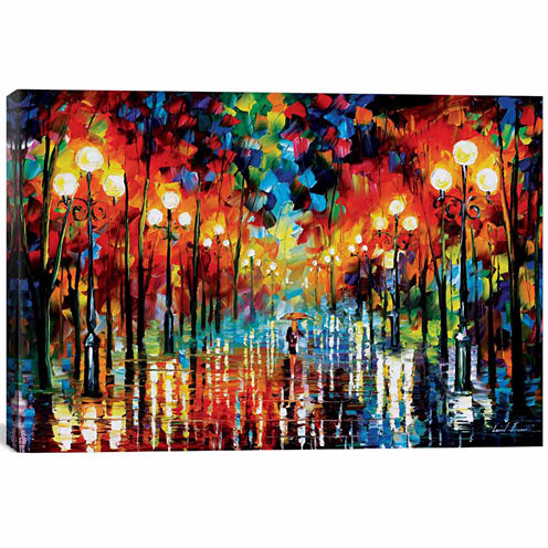 Icanvas A Date With The Rain Canvas Art